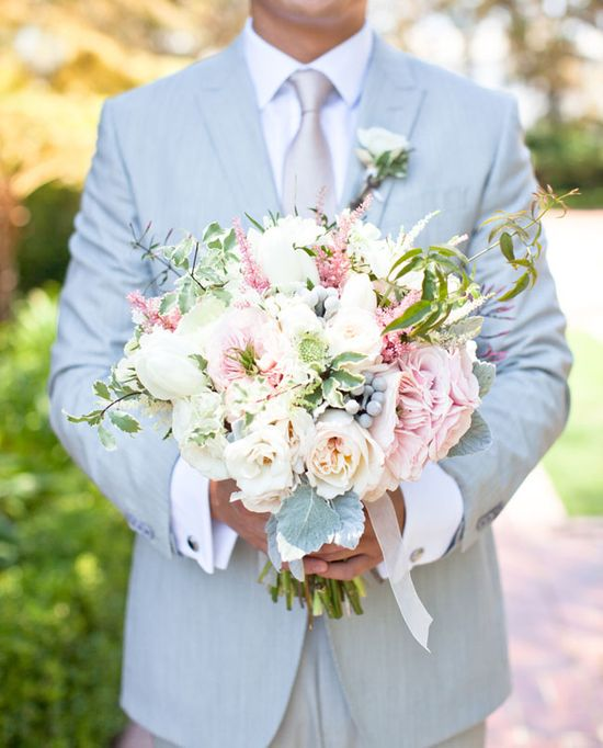 Bouquet   Romantic Wedding at Greystone Mansion: Chriselle + Allen