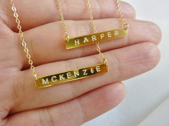 #gold #necklace #name #initials