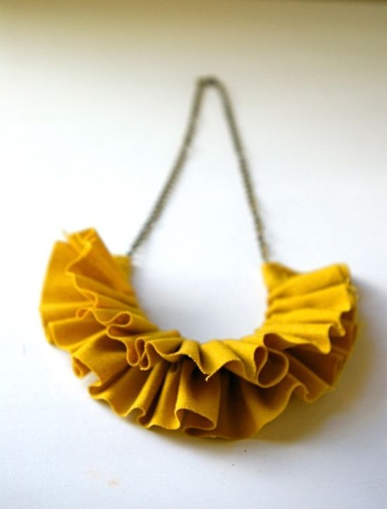 Love this necklace! $20 #jewelry #necklace #linen #mustard