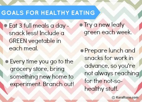 goals for healthy eating