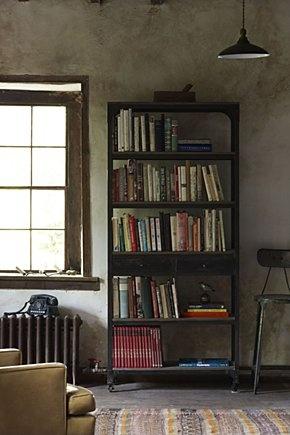 bookshelf @ anthropologie: decker rolling bookshelf