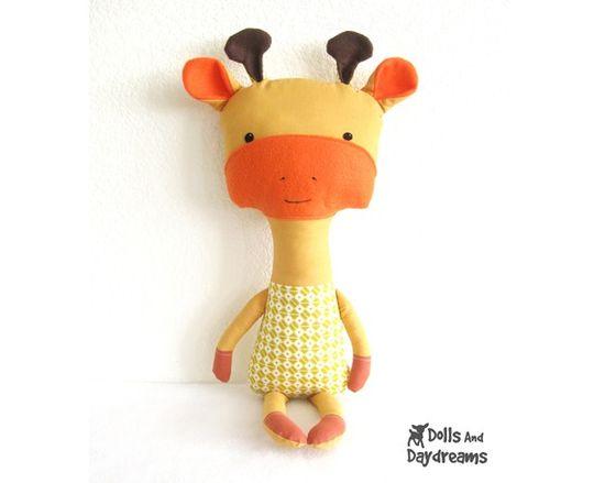 Giraffe Softie Stuffed Toy PDF Sewing Pattern