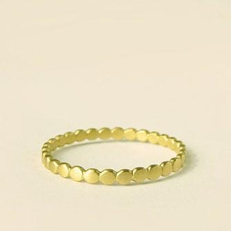 tiny polkadot stacking ring 14k