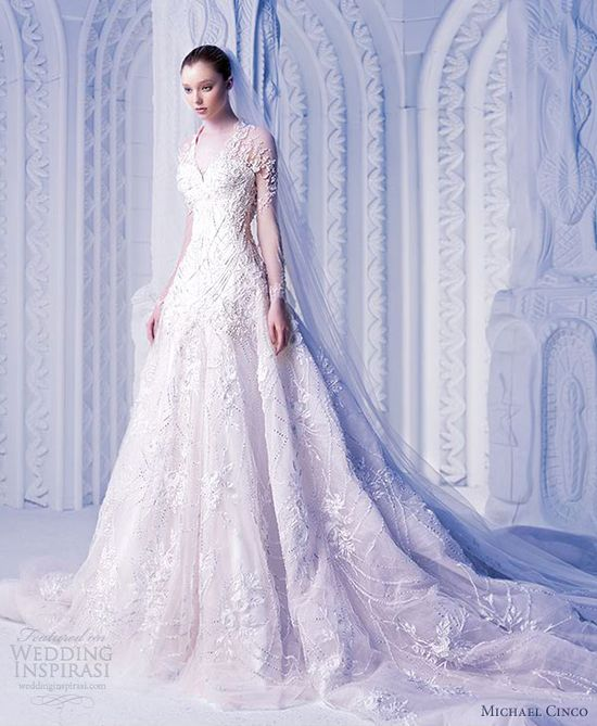 michael cinco spring 2013 bridal couture wedding dress