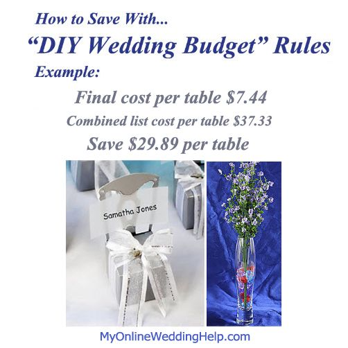 """How to save on wedding using the """"DIY-wedding budget"""" rules."""