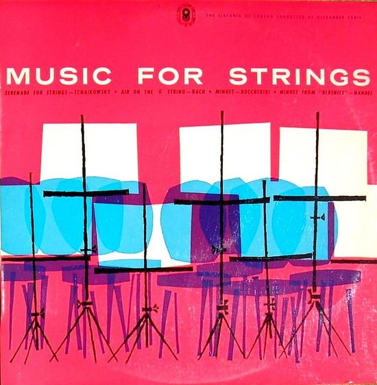 Music For Strings LP cover designed by David Leonard