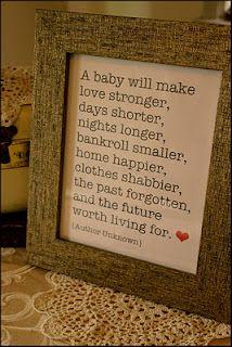 Baby will....