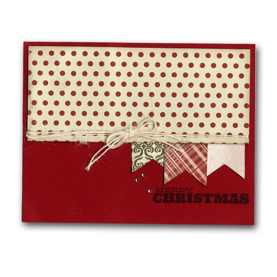 Christmas Banner Flags card