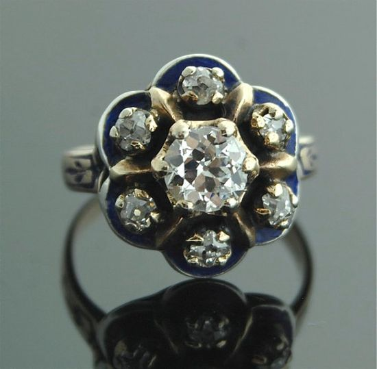 Antique Victorian Jewelry  Rose Gold Ring with by SITFineJewelry, $5500.00