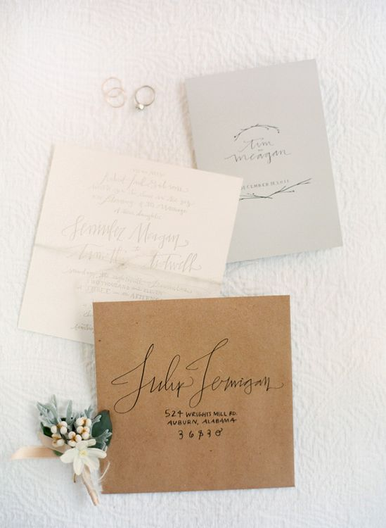 lovely simple invitations