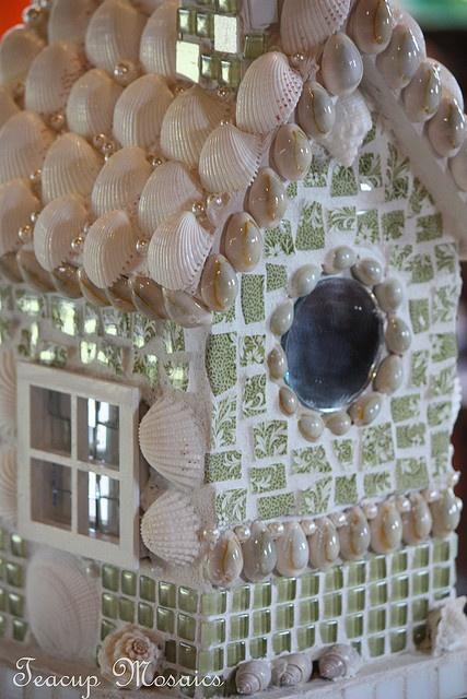 Seashell bird house