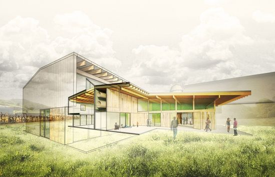 Perspective section - Artisan Barn ?Addition / Hutchison & Maul Architecture