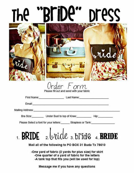 cute idea for bachelorette festivities