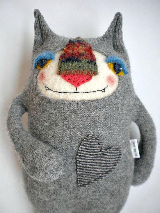 Stuffed Animal Cat by sweetpoppycat