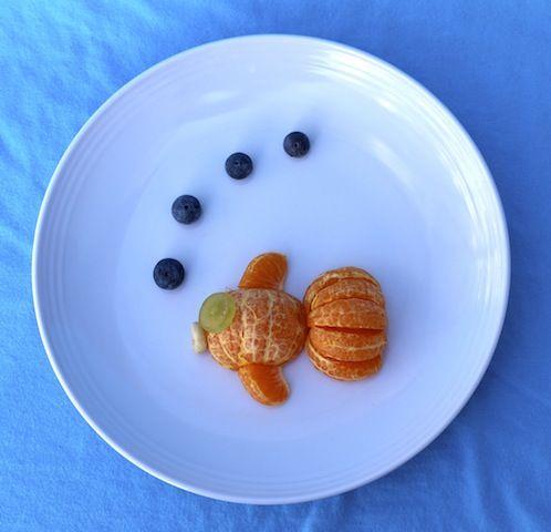 Tangerine fruit fish