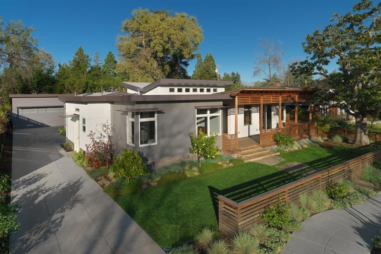 Modern home design in Redwood City, CA. From 1 of 15 projects by Rossington Architecture, discovered on search.porch.com