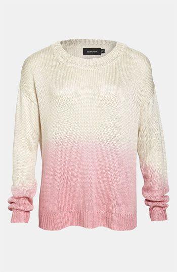 Pastel, meet Ombre: MINKPINK Dip Dye Sweater #Nordstrom #SavvyTrends