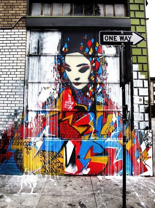 Graffiti art by Hush #graffiti #street #art