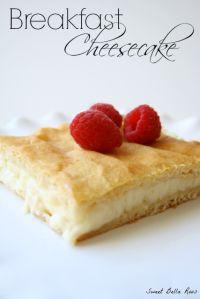 Breakfast Cheesecake on MyRecipeMagic.com #cheesecake #breakfast