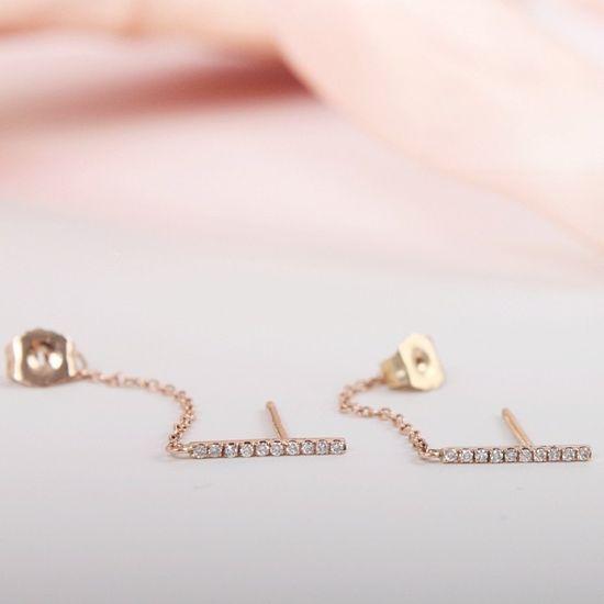 Catbird Diamond Pavé Ballerina Earrings.