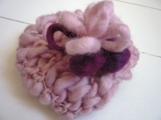 photography props KNITTING PATTERNS - baby girl hat - 'precious flower'