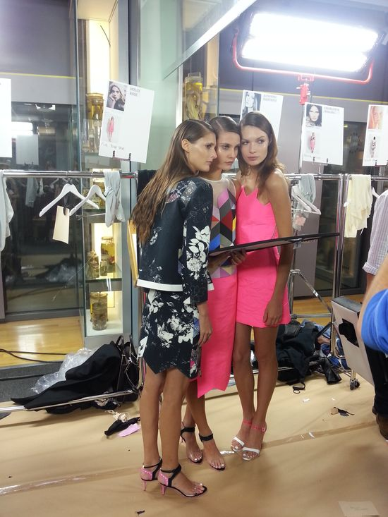 LFW S/S14 #StTropez #tan #tanning #InstantTan #Preen #LFW #fashion #models #catwalk #frontrow