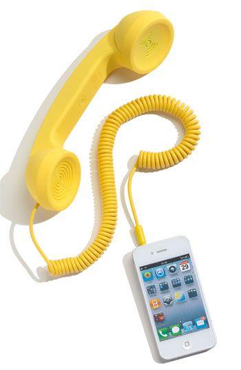 'Pop Phone' Handset in Yellow