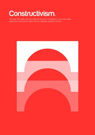 philographics : Constructivism : The view that reality, and the methods we use to understand it, are man-made, subjective constructions rather than an objective reading of events.