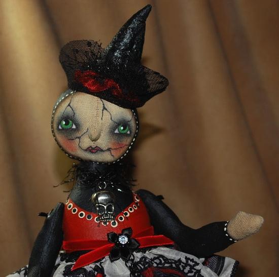 Primitive Folk Art Doll Halloween Gothic Ghost by robinseeber, $172.00