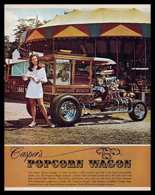 """Popcorn Wagon"" Show Car, 1971 by Cosmo Lutz, via Flickr"