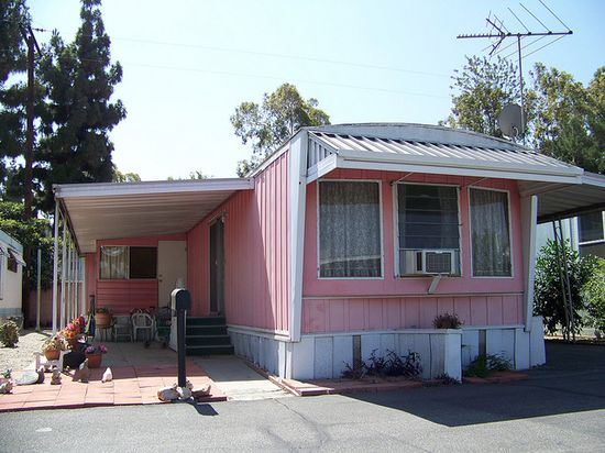 Pink Mobile Home
