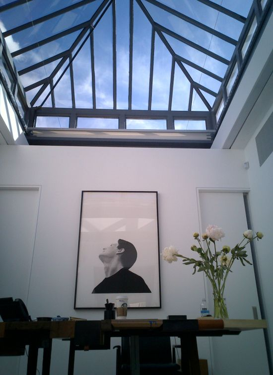 Skylight in Phillip's office