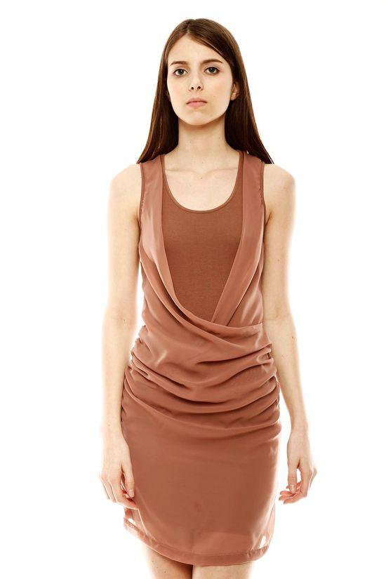 Sleeveless Drape Dress