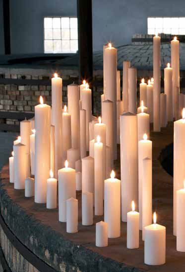 the scent and soft light of candles
