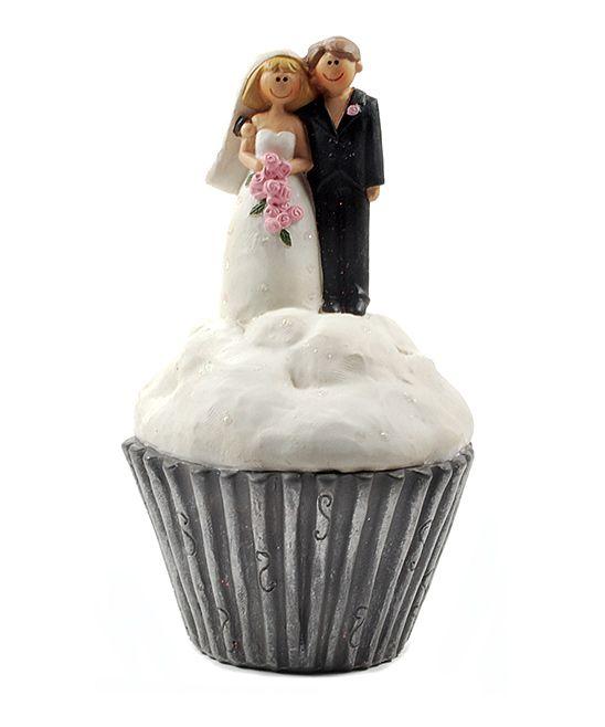 Bride & Groom Cupcake Figurine
