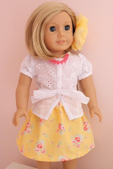 American Girl Doll 18 inch Doll Skirt for Easter by addielillian, $8.00