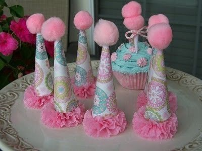 Party Hat Cupcake Toppers