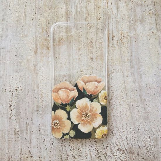 hand painted iphone case.