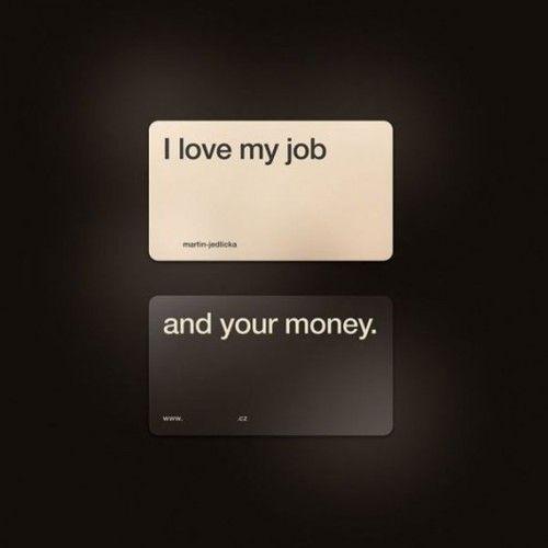 Cheeky business card.