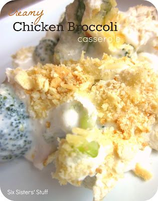 Creamy Chicken and Broccoli Casserole. A quick and easy dinner!