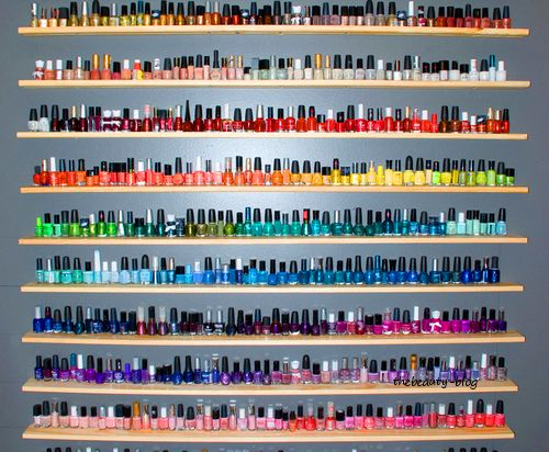 I want this many nail polishes to chose from!