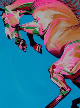 "Something different: Saatchi Online Artist Yaheya Pasha; Painting, ""Azure"""