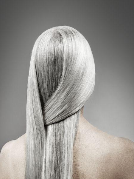 Amazing grey hair...