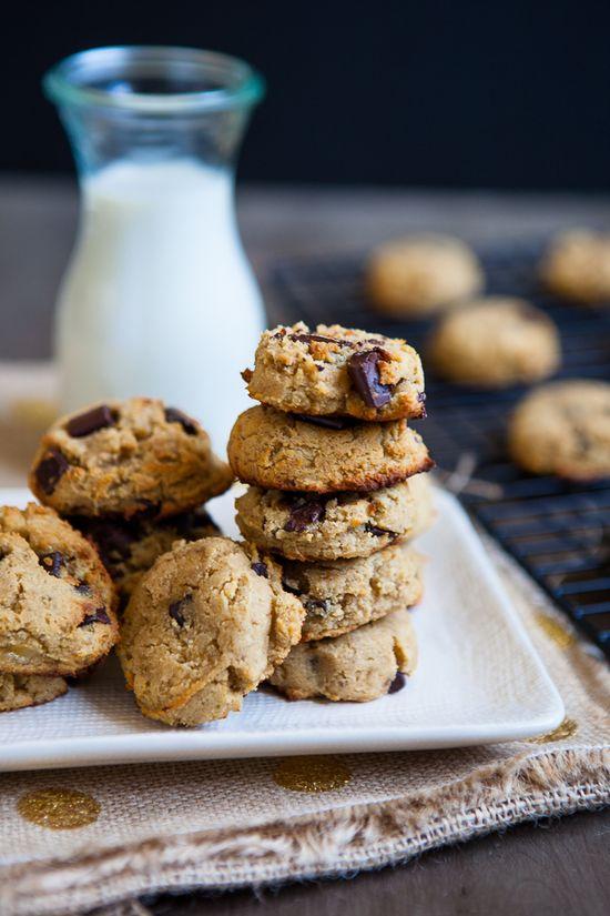 Grain Free Coconut Banana Chocolate Chip Cookies (using coconut flour)