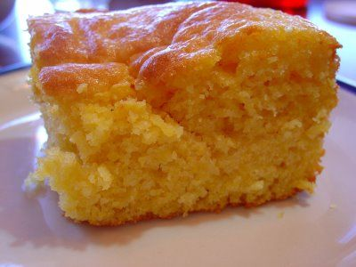 "The pinner said, ""Cornbread mixed with Yellow cake mix~ no one has to know your secret But..... its the BEST cornbread you will ever eat!! This is what they do at Disneyland and at Sonnys"""
