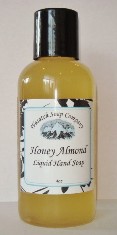 Honey and Almond Handmade Liquid Soap  AllNatural - Fragranced with the amazing scent of Honey and Almond. A generous amount of honey and sweet almond oil is added to this soap which makes it extra special on your skin.     A pure, luxurious, creamy liquid soap...not drying like commercial brands. No added detergents, just moisturizing oils that clean and nourish your skin. I use the same wonderful ingredients in my liquid soaps that I use in my bar soaps.