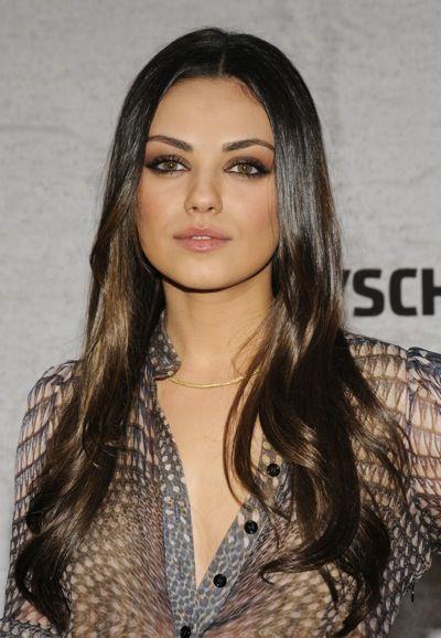 Mila Kunis smokey eye makeup #kohlsbeauty