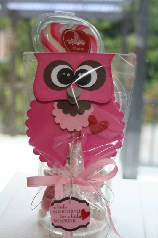 Guess Who loves You Owl! Using Stampin Up punches and dies. Cute valentine gift