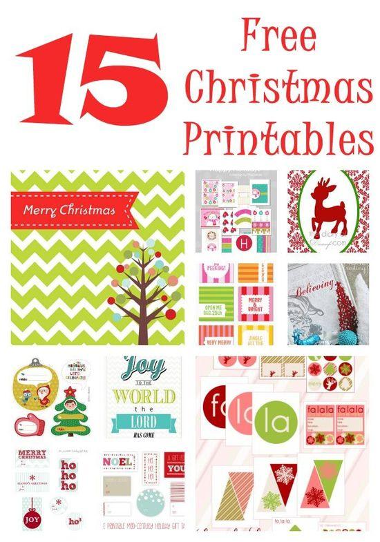 15 FREE Christmas printables on iheartnaptime.com ... so many fun ideas!