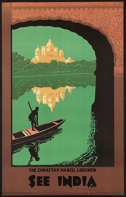 vintage travel poster: See India